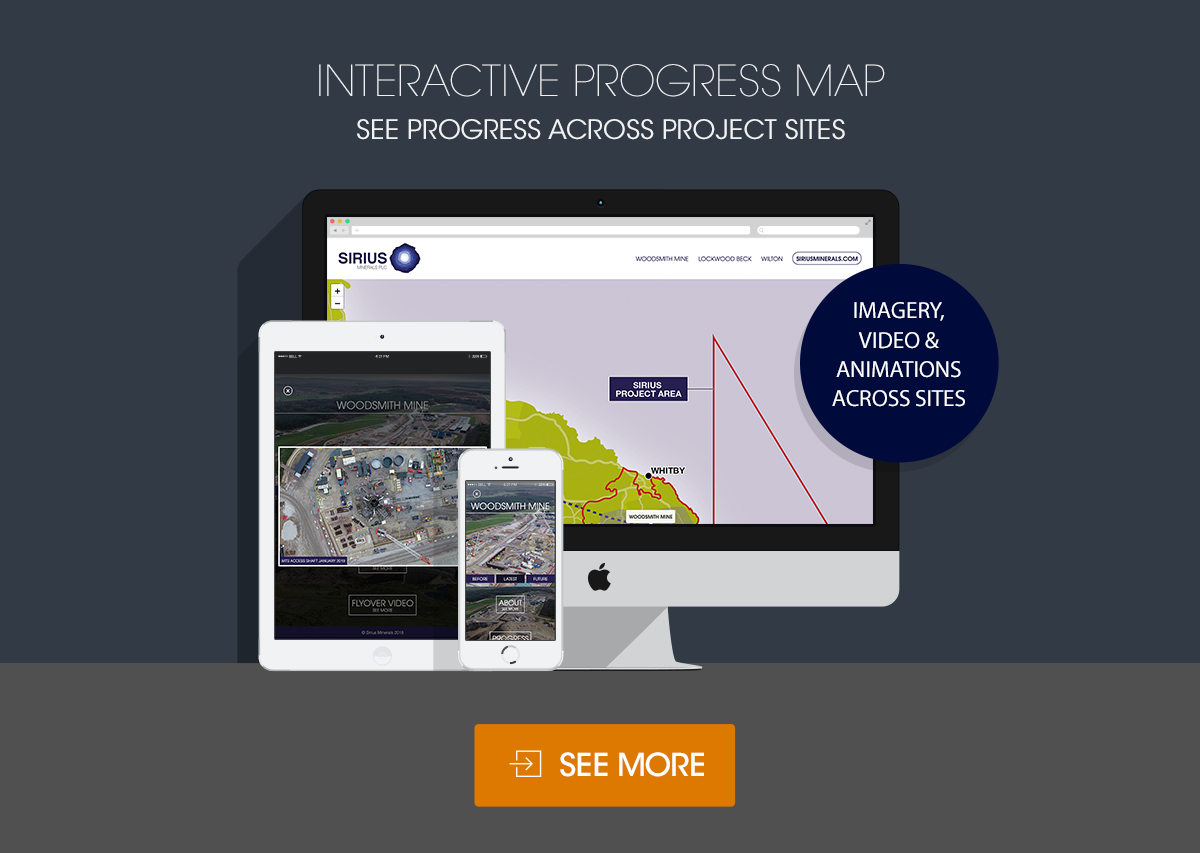 Interactive Progress Map – See progress across projects sites. Including imagery, video and animation.